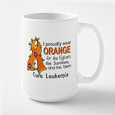 Orange For Fighters Survivors Taken Leu Large Mug