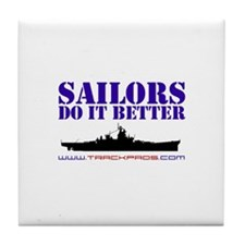 Sailors Do It Better Tile Coaster