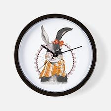 Pretty Rabbit Wall Clock