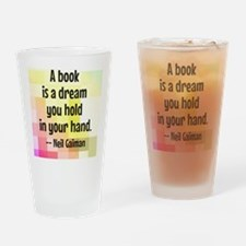 Cute Reading Drinking Glass