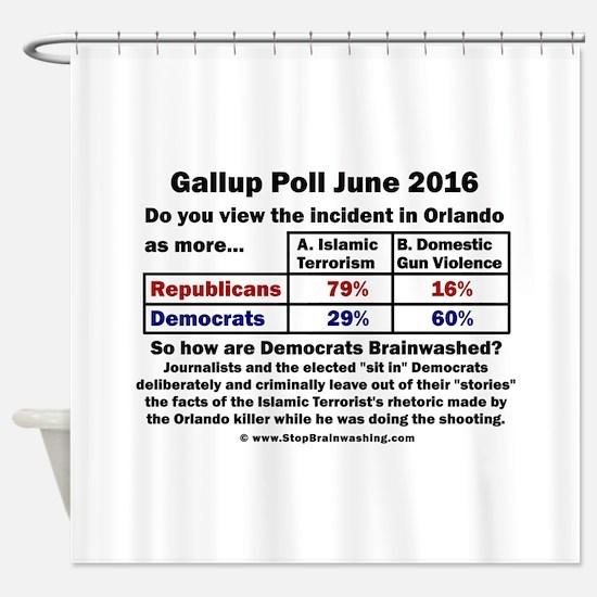 Brainwashed Democrats Shower Curtain