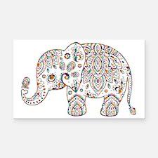 Cute Elephant Rectangle Car Magnet