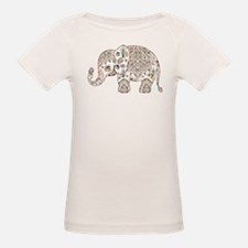 Colorful paisley Cute Elephant Illustratio T-Shirt