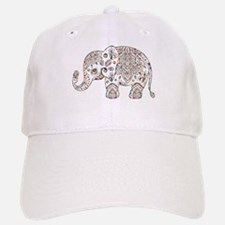 Colorful paisley Cute Elephant Illustration Baseball Baseball Cap