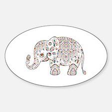 Colorful paisley Cute Elephant Illustratio Decal