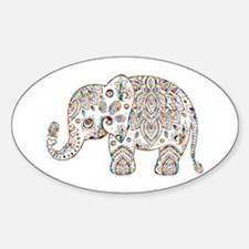 Colorful paisley Cute Elephant Illustratio Decal