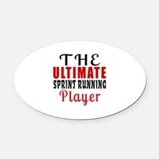 The Ultimate Sprint Running Player Oval Car Magnet
