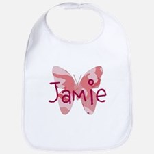 camo butterfly : name personalize, initials Bib