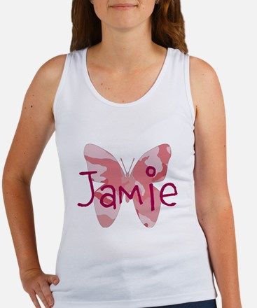 camo butterfly : name personalize, initials Tank T
