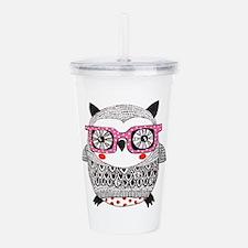 Embroider Look Owl Acrylic Double-wall Tumbler