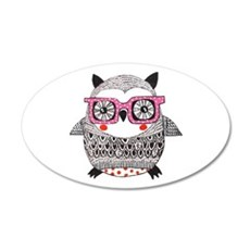 Embroider Look Owl Wall Decal