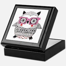 Embroider Look Owl Keepsake Box