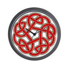 Celtic Christmas Knot Wall Clock