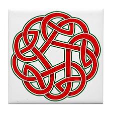Celtic Christmas Knot Tile Coaster