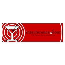 Red Martini Rings Bumper Bumper Sticker