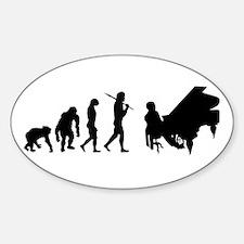 Concert Pianist Sticker (Oval)