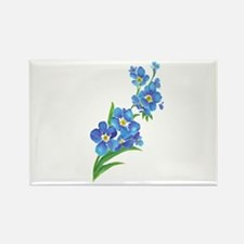 Forget Me Not Flower Watercolor Painting s Magnets