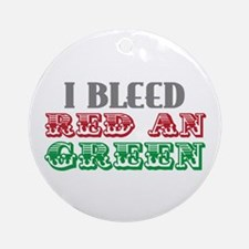 Red & Green Ornament (Round)