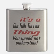 It's Norfolk Terrier Dog Thing Flask