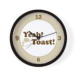 Yeah! Toast! Wall Clock