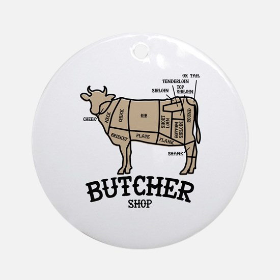 Butcher Beef Round Ornament
