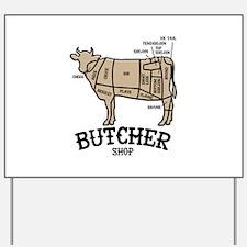 Butcher Beef Yard Sign