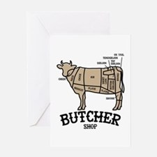 Butcher Beef Greeting Cards