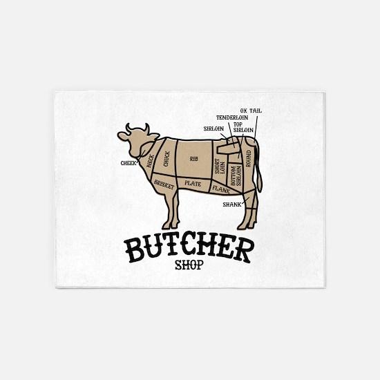 Butcher Beef 5'x7'Area Rug