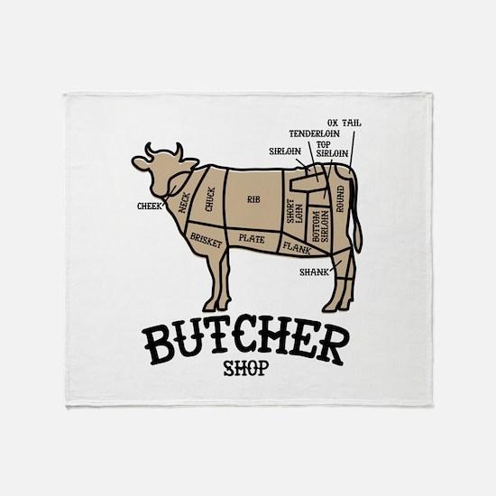 Butcher Beef Throw Blanket