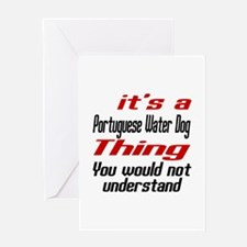 Portuguese Water Thing Dog Designs Greeting Card