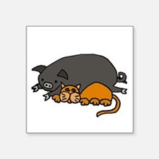 Pig and Cat Love Sticker