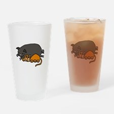 Pig and Cat Love Drinking Glass