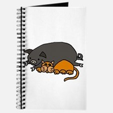 Pig and Cat Love Journal