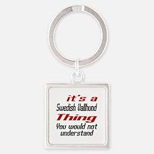 It's Swedish Vallhund Dog Thing Square Keychain