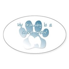 Chow Chow Granddog Oval Decal