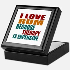 Drink Rum Is My Therapy Keepsake Box