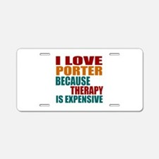 Drink Pub Is My Therapy Aluminum License Plate