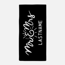 Mr And Mrs Gifts Personalized Beach Towel