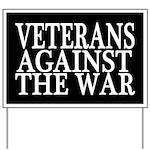 Veterans Against The War Yard Sign (black)