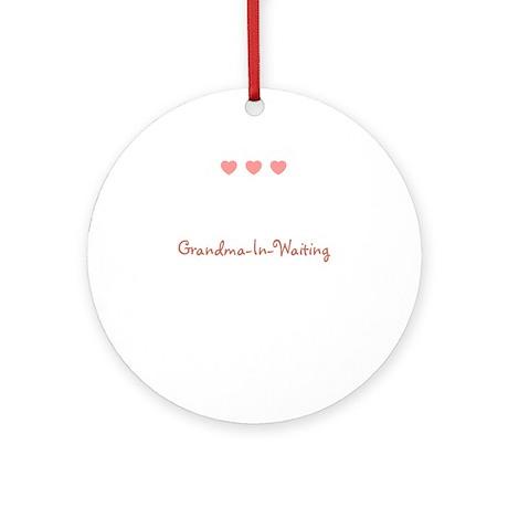 Grandma-In-Waiting Ornament (Round)