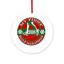 My First Half Marathon - 2008 Ornament (Round)