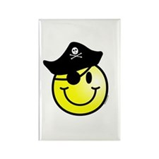 Smiley Pirate Rectangle Magnet