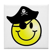 Smiley Pirate Tile Coaster