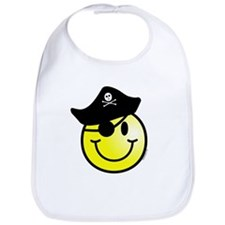Smiley Pirate Bib