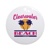 Clearwater beach florida for children Round Ornaments