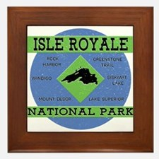 Isle Royale Lake Superior National Par Framed Tile