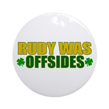 Rudy Offsides (2) Ornament (Round)