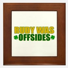 Rudy Offsides (2) Framed Tile