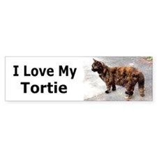 I Love My Tortie Bumper Bumper Sticker