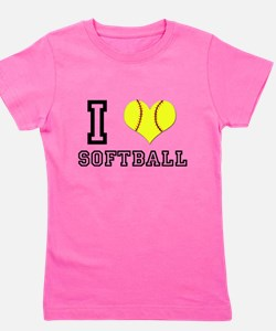 Unique Baseball glove Girl's Tee
